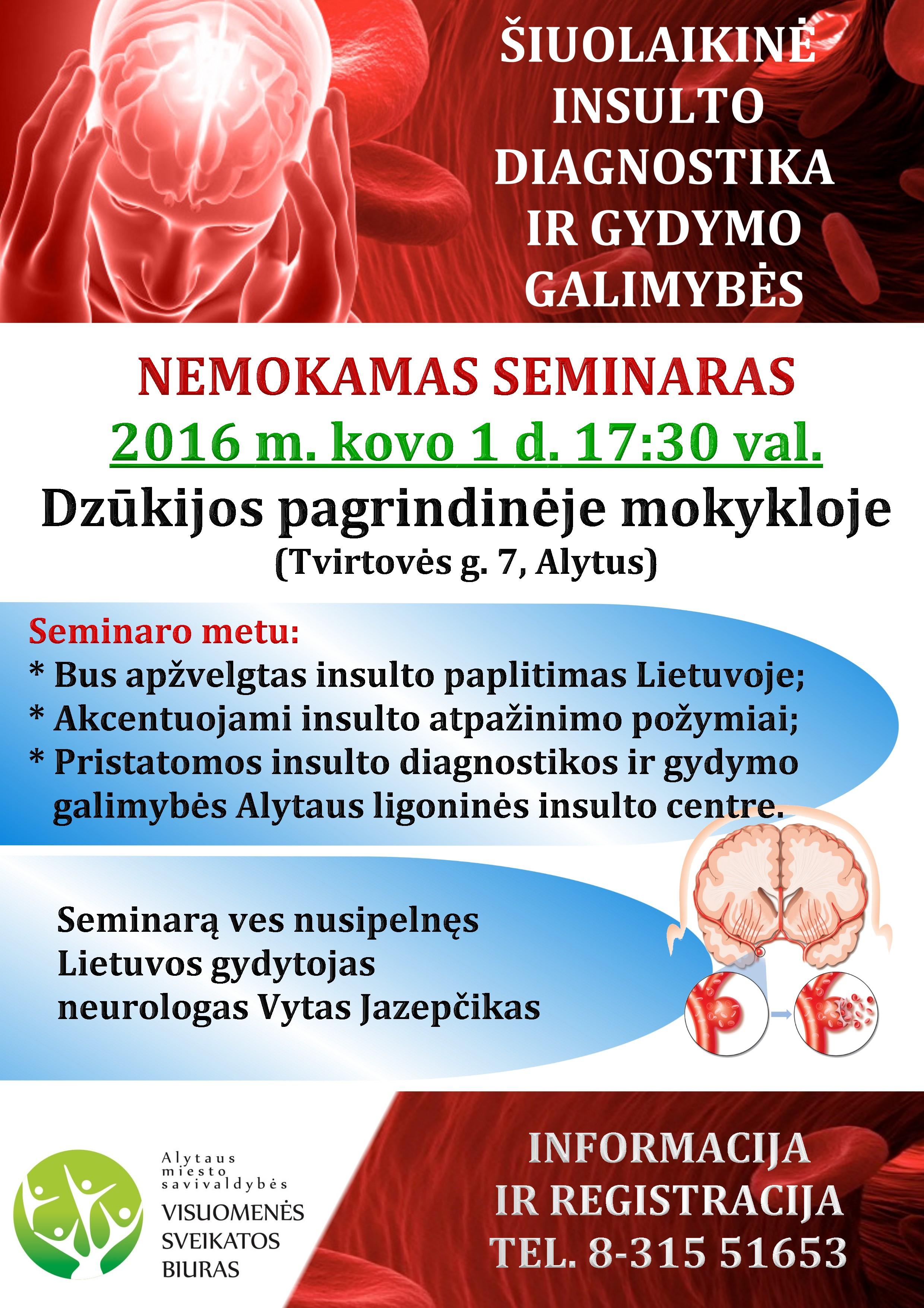 insulto ir hipertenzijos profilaktika